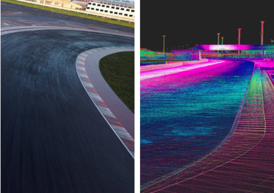 Grazie alla tecnologia laserscan, i piloti virtuali potranno apprezzare il circuito Marco Simoncelli di Misano