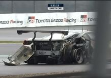WEC 2018 Fuji: l'incidente della Ferrari 488 GTE di Ishikawa in pieno rettilineo [video]