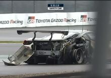 WEC 2018 Fuji: l'incidente della Ferrari 488 GTE di Ishikawa in pieno rettilineo [video]