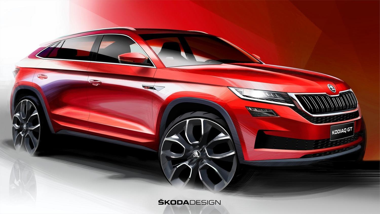 Skoda Kodiaq GT, i primi disegni del SUV coupé per il mercato cinese