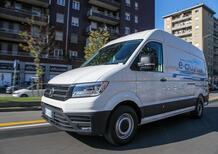 Volkswagen e-Crafter: come si elettrizza il furgone del corriere in città [video primo test]