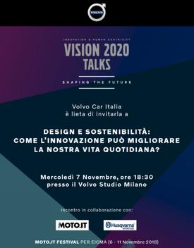 Workshop al Volvo Studio, 7 novembre: All'appuntamento infatti parteciperanno Volvo, padrone di casa, e Husqvarna, azienda motociclistica che con Volvo condivide il dna svedese e la passione per il design
