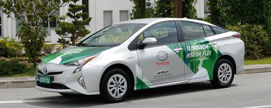 Una Toyota, che da noi vuole dire benzina + elettrico, in Brasile significa anche etanolo