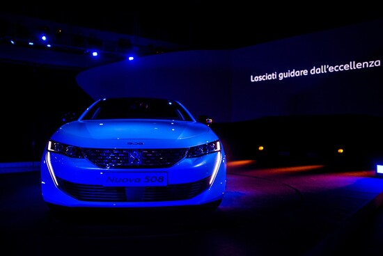 L'eccellenza artistica e d'impresa celebrata a Milano, si sposa al nuovo modello 508 di Peugeot