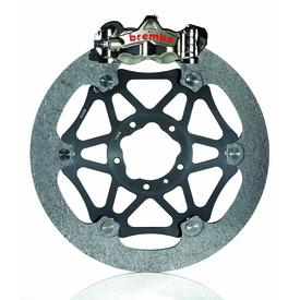 Per le MotoGP la Brembo produce dischi in carbonio del diametro di 340 mm e dello spessore di 8 mm, che vengono abbinati a pinze monoblocco ricavate dal pieno