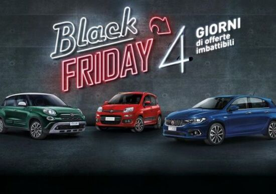 Promozioni e sconti auto: 4 giorni di Black Friday Fiat e Lancia