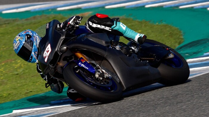 Marco Melandri sulla Yamaha YZF-R1