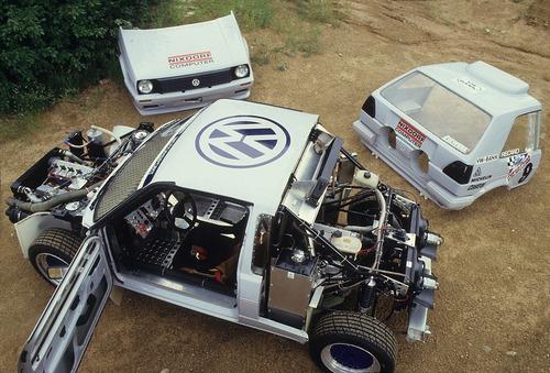 Volkswagen Golf, nel 1987 con due motori per la Pikes Peak (8)