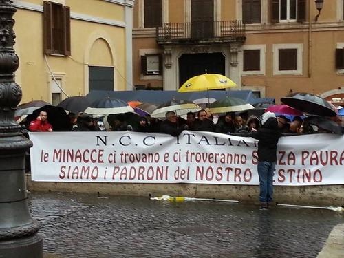 Protesta NCC, Roma: chi sono e cosa vogliono (2)