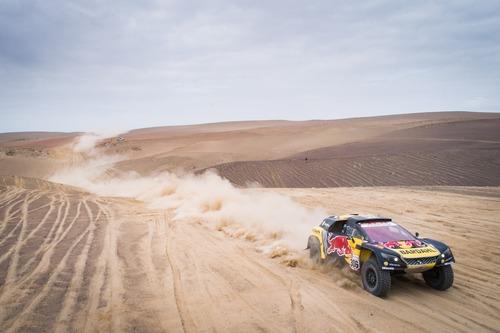 Dakar Perù 2019 Loeb-Peugeot. Non il giorno ideale per affrontare il Rally nel caos (5)