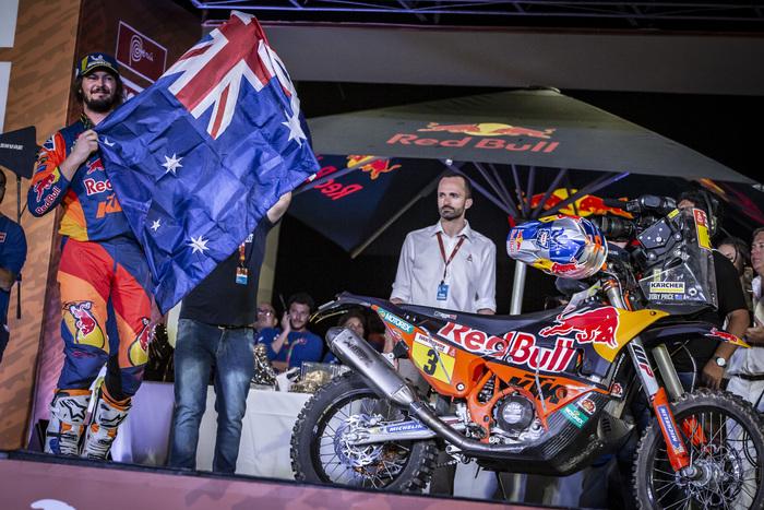Toby Price, vincitore della Dakar