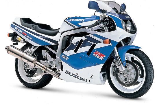La Suzuki è stata l'ultima casa giapponese a passare al raffreddamento ad acqua (già da tempo adottato dagli altri costruttori) per le sue quadricilindriche di alte prestazioni. L'immagine si riferisce al GSX-R 750 W del 1992