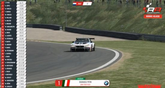 Emanuele Petri aveva già dimostrato di essere un simracer velocissimo. A Zandvoort trionfa al suo esordio su Raceroom