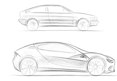 Fantasie Alfa Romeo, Cuore Sportivo Elettrico: nuova Alfasud E-Sprint (GT EV) (3)