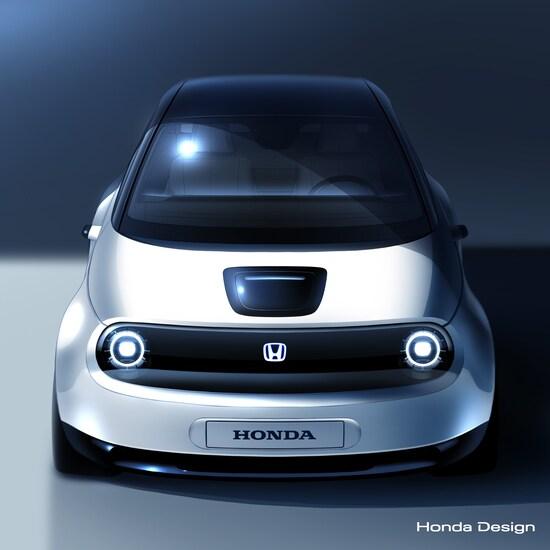 Una prima anticipazione della Honda concept elettrica che verrà mostrata a Ginevra 2019