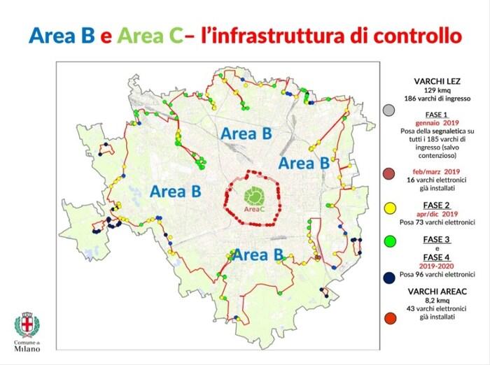 Il territorio coperto dall'Area B