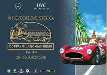 XI^ Rievocazione Coppa Milano Sanremo: 70 auto classiche (+4 moto) in strada, pista e passerella d'onore