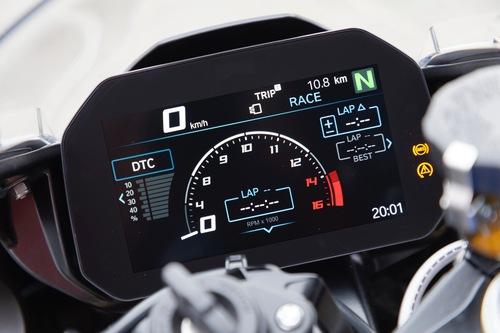 Una delle modalità Core sul display della BMW S1000RR 2019