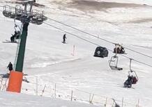 Bolzano, 91enne in auto finisce sulla pista da sci: multato