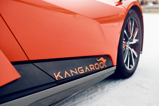 Il dettaglio della fiancata della GFG Style Kangaroo