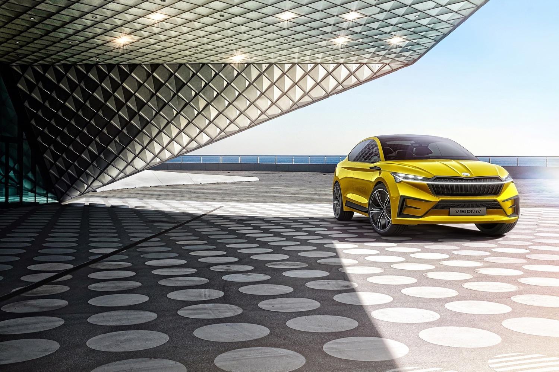 Auto: ecco Vision iV, il primo suv coupé elettrico di Skoda[GALLERY]