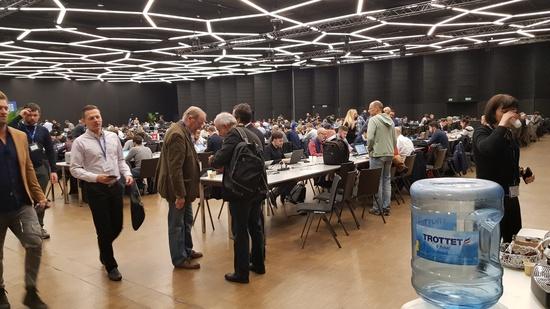La Sala stampa di Ginevra, un ambientino niente male per chi lavora con passione
