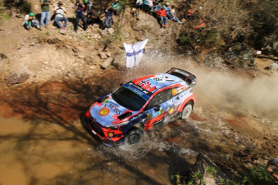 Mikkelsen in azione nel rally del Messico 2019, Shakedown