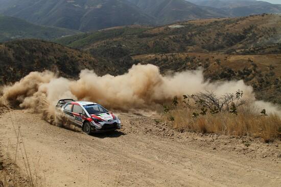 Latvala nel corso del suo rally del Messico