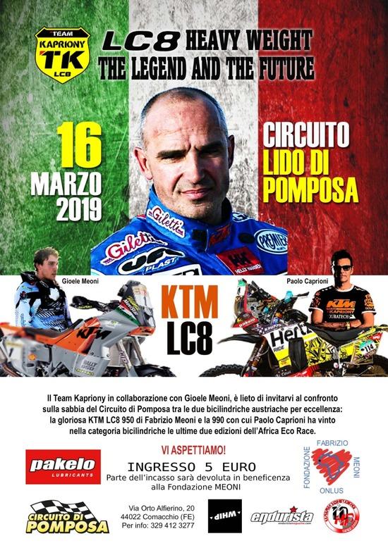 La KTM LC8 di Fabrizio Meoni a Pomposa