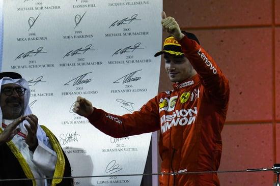 Charles Leclerc sul podio