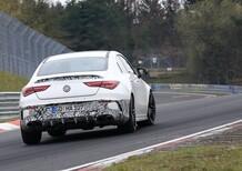 Mercedes-AMG CLA 45: foto spia e traversi al Nürburgring