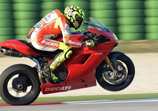 Valentino Rossi a Misano con la Ducati 1198 Superbike!