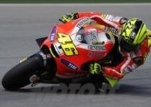 Valentino Rossi sulla Ducati: le prime foto del test di Sepang