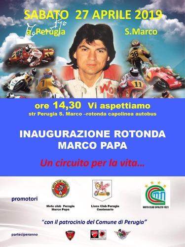 Una rotonda per ricordare Marco Papa (3)
