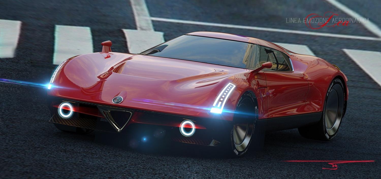 Alfa Romeo LEA, ipotesi sulla nuova 8C