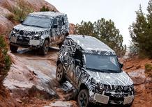 Land Rover Defender 2020, nuove immagini del prototipo