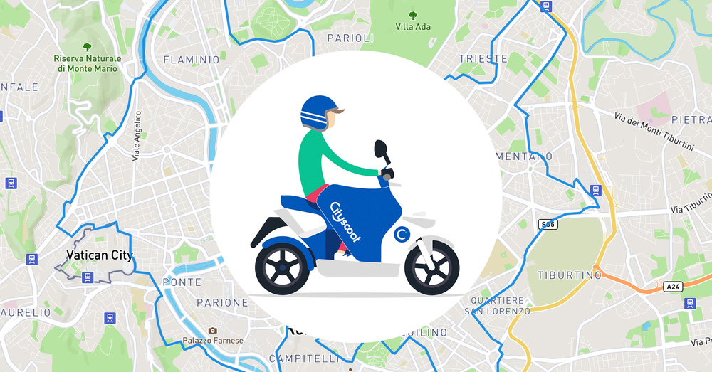 Lo scooter sharing Cityscoot pronto a invadere Roma