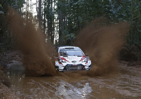 WRC 2019. Cile. Prima Tappa, Inferno Tanak (Toyota)