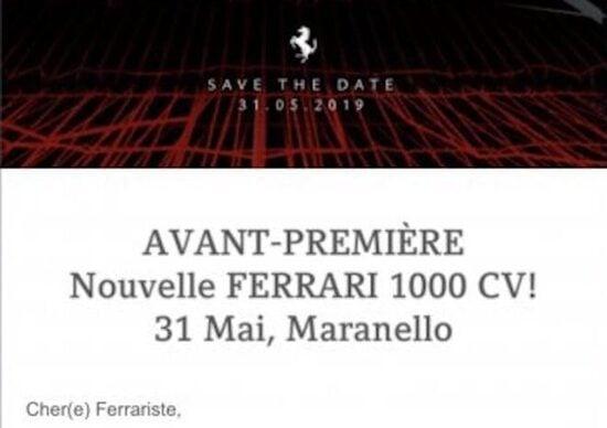 Ferrari, la nuova supercar ibrida ha 1.000 CV