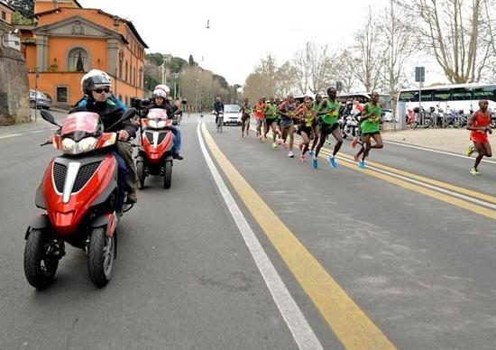 Piaggio Mp3 Yourban alla XVII Maratona di Roma