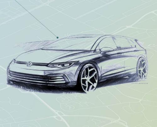 Volkswagen Golf 2020: ecco i primi bozzetti