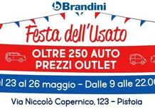 Festa dell'usato Brandini: dal 23 al 26 maggio a Pistoia