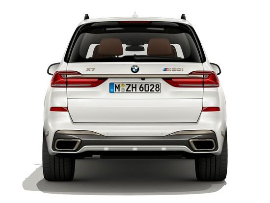 Il posteriore del nuovo BMW X7 M50i