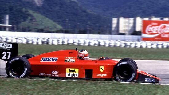 Nigel Mansell su Ferrari 640 nel 1989, quando Cesare Fiorio era direttore sportivo della Rossa