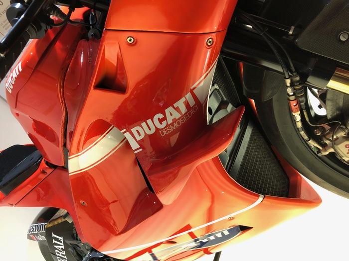 Le alette montate sulla Ducati Desmosedici GP10