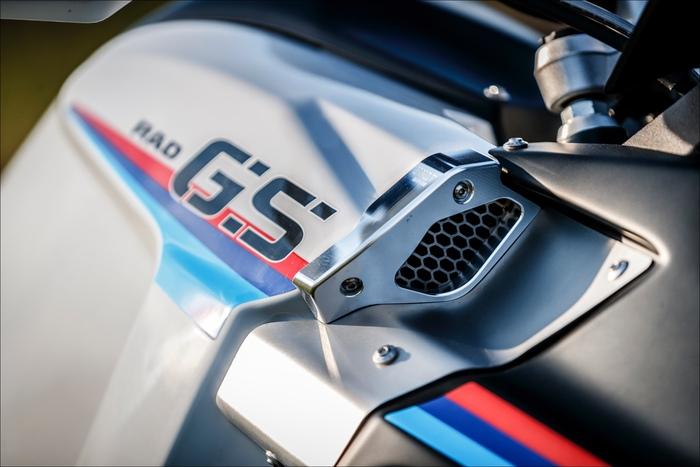 Un dettaglio del convogliatore della GS LC Rad