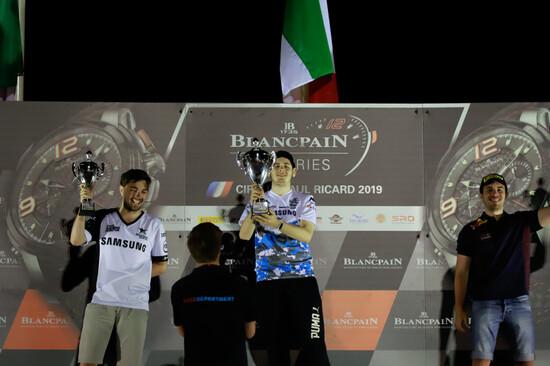 Sul podio reale di Paul Ricard i festeggiamenti di David Tonizza, Amos Laurito e Nestor Garcia