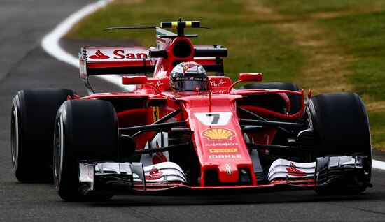 Kimi Raikkonen a Silverstone nel 2017