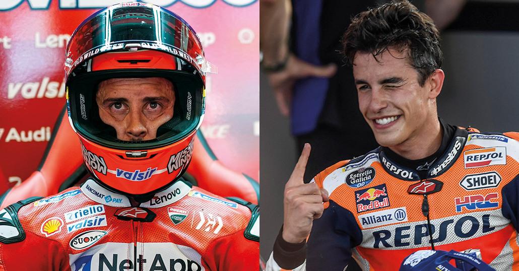 Márquez provoca Dovizioso. Come Rossi con Biaggi...