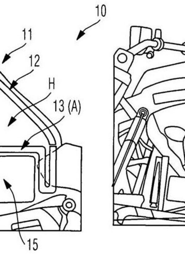 BMW: brevetto per una moto ibrida